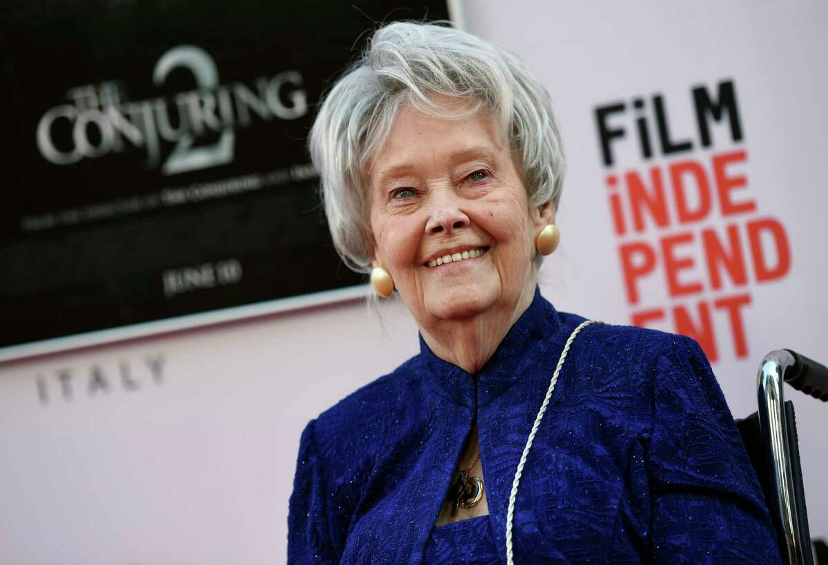 FILE - In this June 7, 2016, file photo, paranormal investigator and film consultant Lorraine Warren poses at the premiere of the film