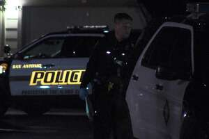 San Antonio police investigate a fatal shooting on the far West Side overnight April, 20, 2019.