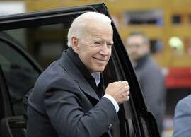 (FILES) In this file photo taken on April 18, 2019 Former US vice president Joe Biden arrives at a rally organized by UFCW Union members to support Stop and Shop employees on strike throughout the region at the Stop and Shop in Dorchester, Massachusetts, on April 18, 2019. - Joe Biden will announce next week he is running for president, likely grabbing pole position in a crowded Democratic field eager to take on President Donald Trump in 2020, US media reported Friday. (Photo by JOSEPH PREZIOSO / AFP)JOSEPH PREZIOSO/AFP/Getty Images