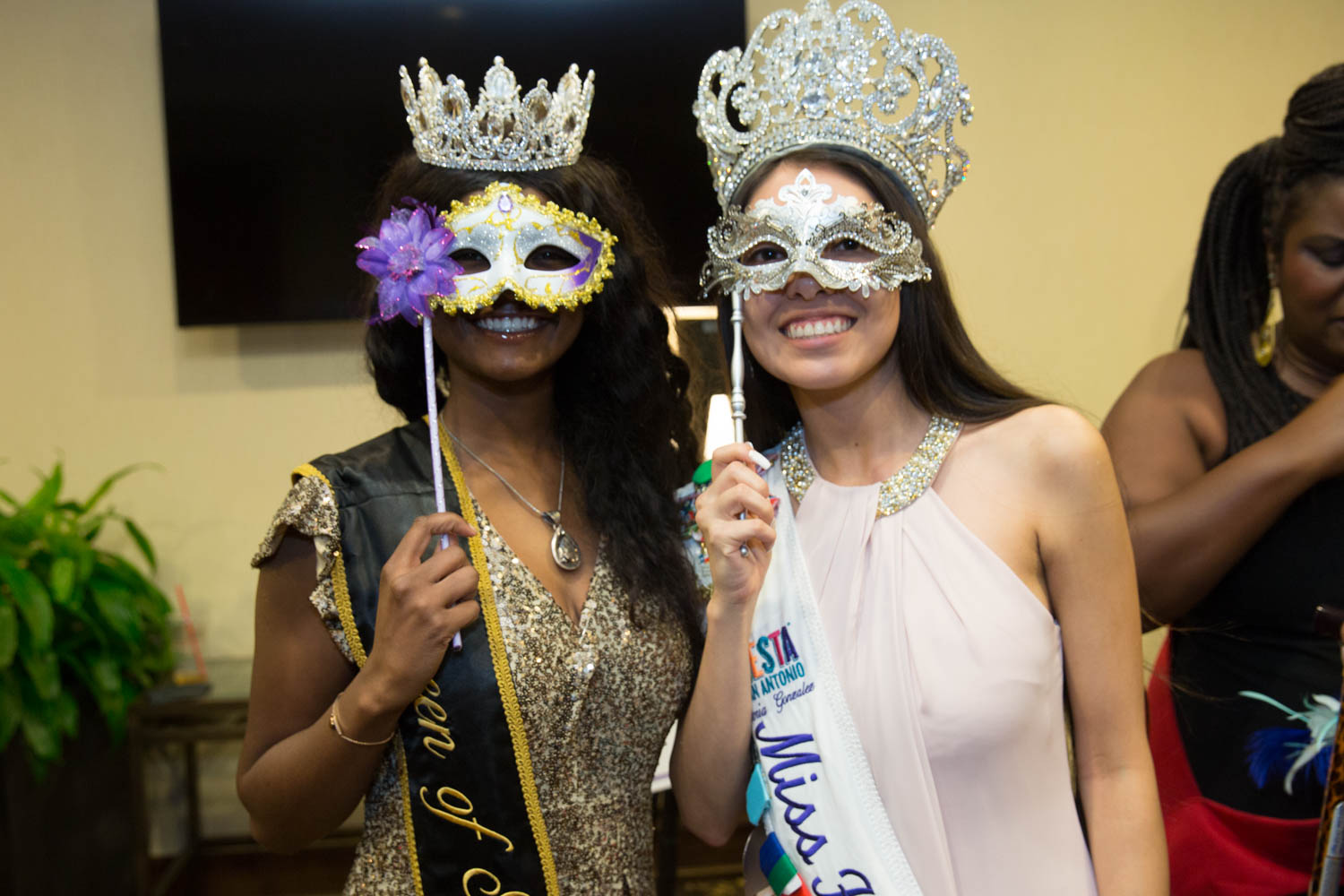 Masks could not hide the Fiesta mood at the annual Masquerade Party