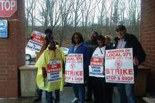 Stop & Shop workers at the Amity store in New Haven stayed on the picket line for the 10th days of the union strike Saturday, April 20, 2019