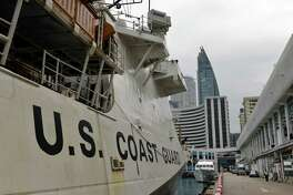 The U.S. Coast Guard Cutter Bertholf arrives in Hong Kong on April 15.