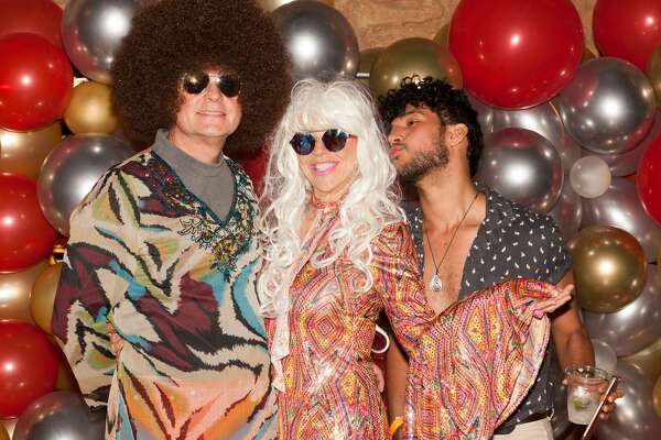 "The San Antonio AIDS Foundation hosted its annual fundraising bash with electric vibes and dance fever as the disco 1970's theme ""Stayin' Alive"" had everyone ready to party Friday night, April 19, 2019, at The Aztec Theater."
