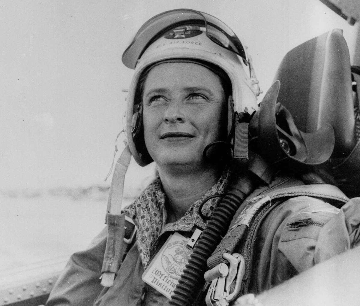 This 1961 file photo shows astronaut candidate Jerrie Cobb in the cockpit of a military aircraft. Cobb was never given the chance to go into space, as NASA wanted only jet test pilots - and that meant only men. Cobb was a record-setting pilot with more than 10,000 hours logged in aircraft. She was one of the Mercury 13 - thirteen women tested to be astronauts until NASA shut down the program in the 1960s.
