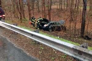 A crash in Fairfield, Conn., on April 20, 2019.