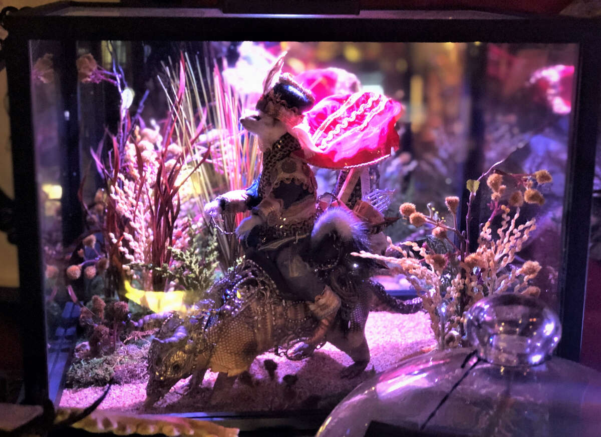 Douglas, who is a self-taught rogue taxidermist, showcased his art pieces including his impressive dioramas.