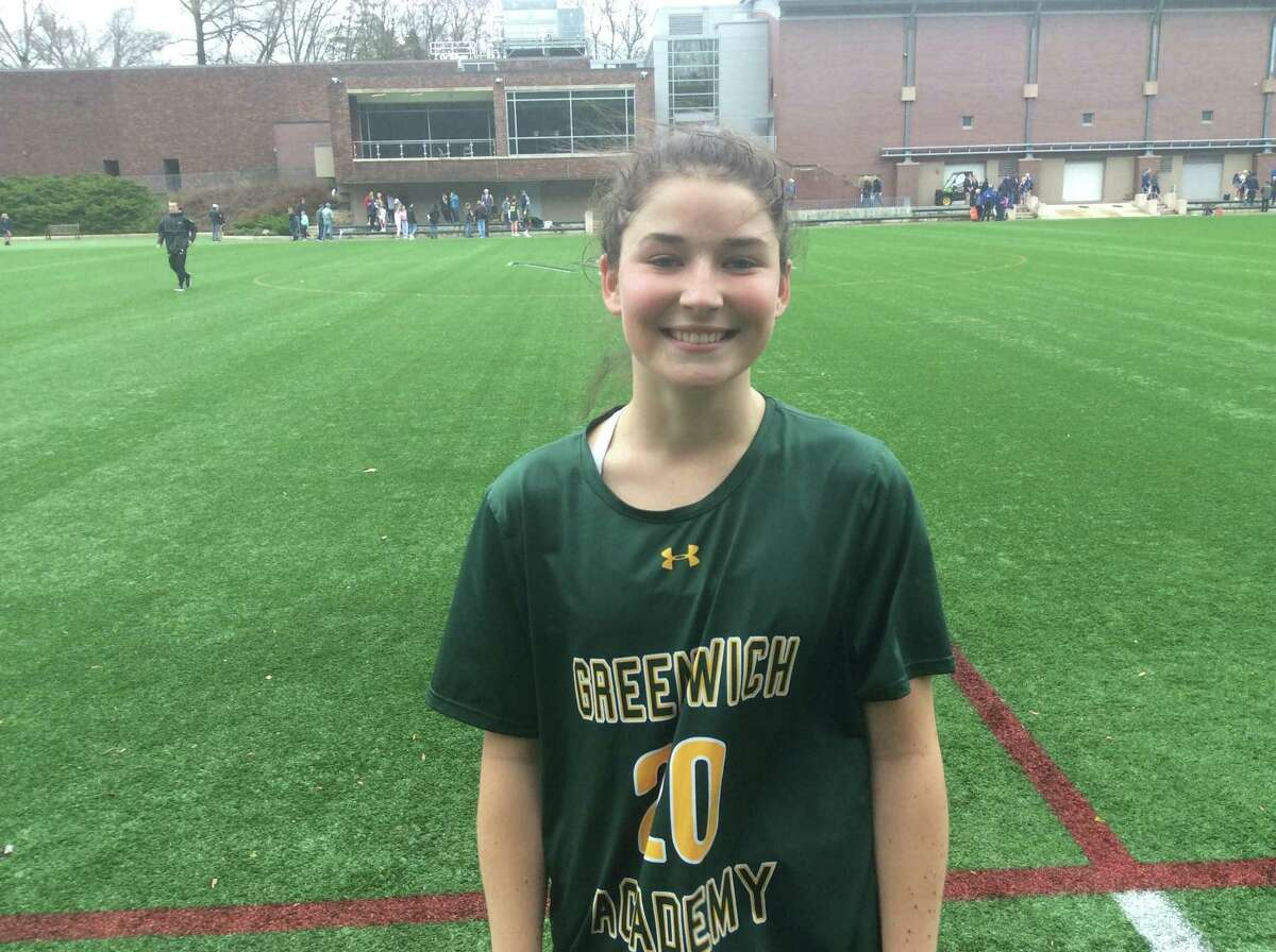 Greenwich Academy junior co-captain Taylor Lane scored three goals in the Gators' 16-2 win over visiting Choate Rosemary Hall on Saturday.