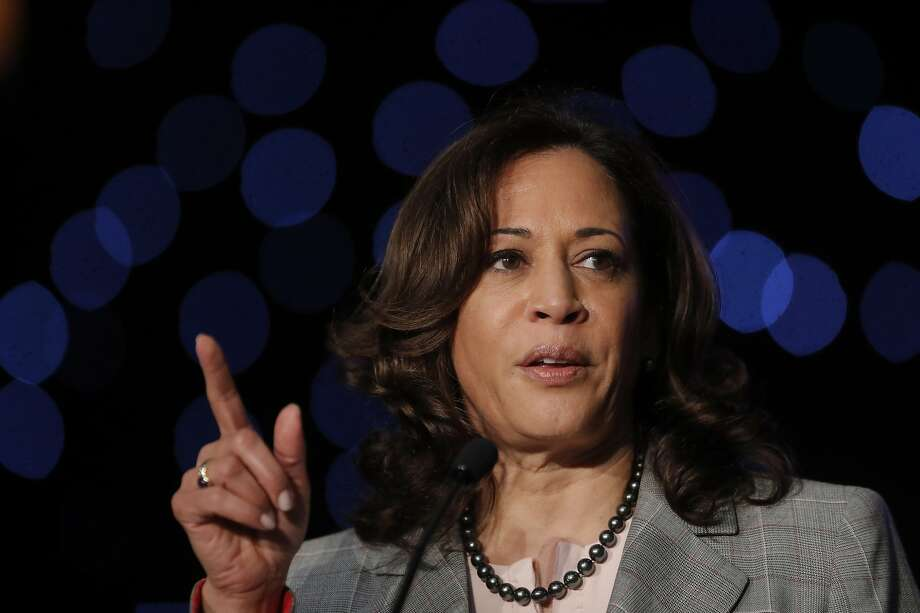 Democratic Presidential Candidate Sen. Kamala Harris, D-Calif., speaks at the Alpha Kappa Alpha Sorority South Central Regional Conference in New Orleans, Friday, April 19, 2019. (AP Photo/Gerald Herbert) Photo: Gerald Herbert, Associated Press