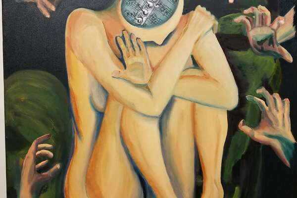 """Art work like Valerie West-Rosenthal's """"Trauma"""" will be displayed in """"The Gallery"""" at Western Connecticut State University on April 22."""