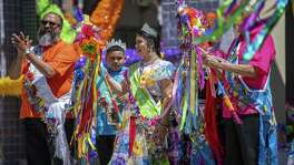 Piñatas in the Barrio princess Luna Munoz, 15, during the all-day Fiesta event at Plaza Guadalupe on Saturday, April 20th, 2019.