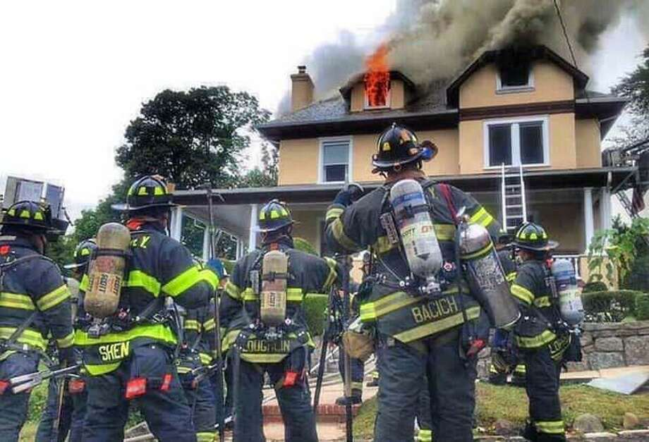 A photo provided by the Connecticut Fire Police Association to show a Rapid Intervention Team. Photo: Contributed Photo / Connecticut Fire Police Association / Contributed Photo / Connecticut Post Contributed