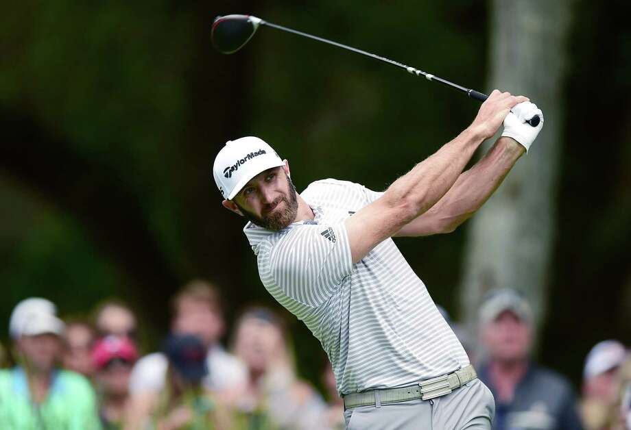 HILTON HEAD ISLAND, SOUTH CAROLINA - APRIL 20: Dustin Johnson plays his shot from the second tee during the third round of the 2019 RBC Heritage at Harbour Town Golf Links on April 20, 2019 in Hilton Head Island, South Carolina. (Photo by Jared C. Tilton/Getty Images) Photo: Jared C. Tilton / 2019 Getty Images