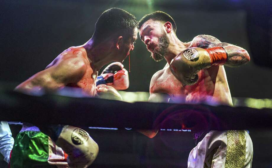 Jorge Castaneda defeated Pedro Amigon via unanimous decision Friday at Fight Fest 18. Photo: Danny Zaragoza /Laredo Morning Times
