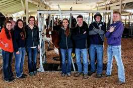 Franklin FFA's judging team recently finished in third place overall out of 12 teams competing in the Section 13 Livestock Judging CDE. Tean member Samantha Mies finished fourth overall, Amber Mies was 16th overall and Ethan Hansell was 17th overall. Franklin FFA also placed third in the Section 13 Horticulture CDE and participated in the fitting contest. Franklin FFA members participating include Amber Mies (from left), Saamantha Mies, Kayla Keeton, Mollie Allen, Levi Brown, Luke Bergschneider and Ethan Hansell.