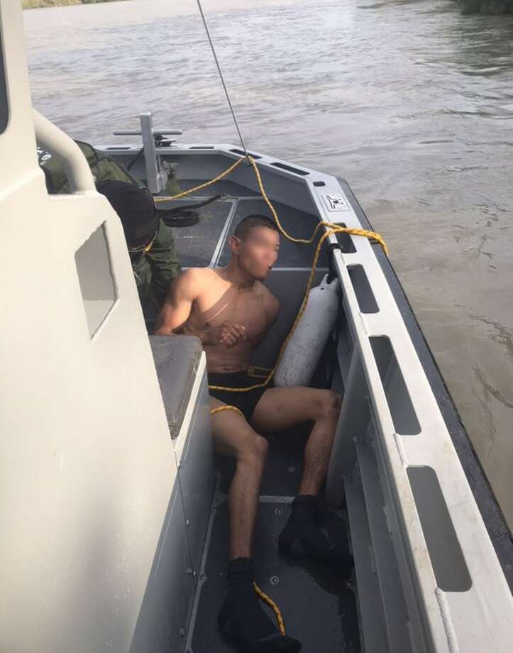 Border Patrol agents rescued this individual who attempted to flee and swim back to Mexico. Photo: Courtesy