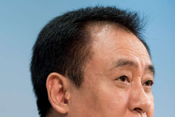 Hui Ka Yan, chairman of China Evergrande Group, during a news conference in Hong Kong on March 26, 2019.