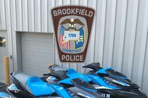 These jet skis and a trailer were stolen in Brookfield, police said.