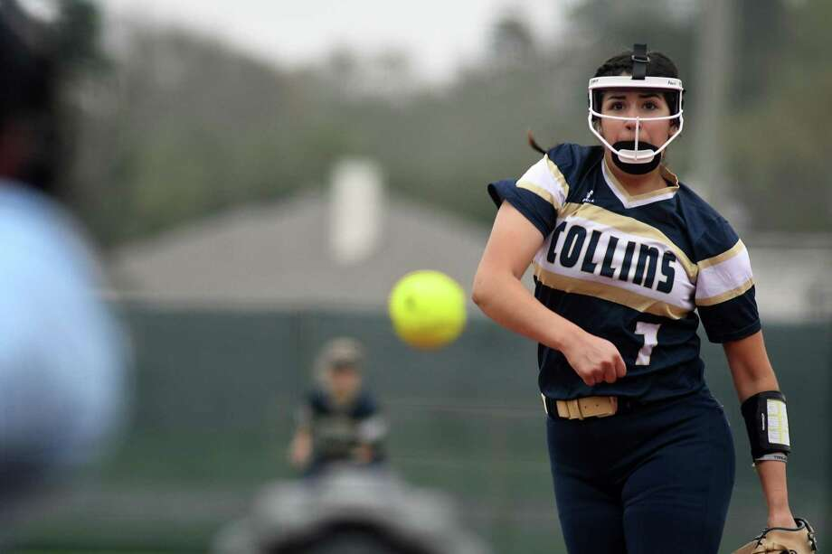 Klein Collins sophomore pitcher Abigail Ramirez works to a Waller hitter during their matchup at the Lone Star Cup Softball Tournament at the Scrap Yard Sports Complex in Conroe on March 2, 2019. Photo: Jerry Baker, Houston Chronicle / Contributor / Houston Chronicle