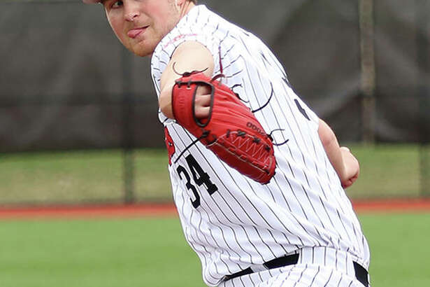SIUE's Collin Baumgartern, a sophomore from Brighton, pitched a career-high seven innings to win the first game of a doubleheader sweep of Valparaiso on Saturday at the Simmons Baseball Complex in Edwardsville.