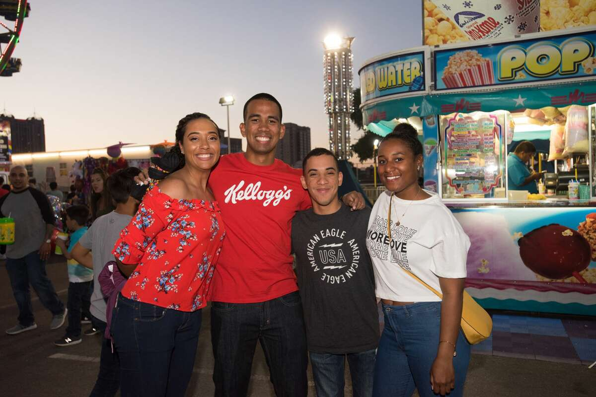 Fiesta-goers enjoyed clear skies and cool weather at the Alamodome parking lot for Fiesta Carnival on Saturday, April 20, 2019.