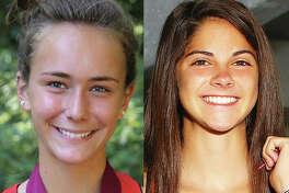 Staunton's Lydia Roller (left) and Edwardsville's Abby Korak
