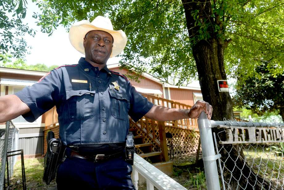 Jasper County Sheriff Capt. James Carter stands outside the Byrd family home where on June he went with then-sheriff Billy Rowles to tell the family of James Byrd, Jr.'s death. Capt. Carter had known the family since childhood. He was also among those to arrest John William King, with whom his own children had been friends and playmates. In the aftermath of the incident, he was pivotal many say in keeping the peace in Jasper. Photo taken Tuesday, April 16, 2019 Kim Brent/The Enterprise Photo: Kim Brent/Beaumont Enterprise / BEN