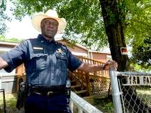Jasper County Sheriff Capt. James Carter stands outside the Byrd family home where on June he went with then-sheriff Billy Rowles to tell the family of James Byrd, Jr.'s death. Capt. Carter had known the family since childhood. He was also among those to arrest John William King, with whom his own children had been friends and playmates. In the aftermath of the incident, he was pivotal many say in keeping the peace in Jasper. Photo taken Tuesday, April 16, 2019 Kim Brent/The Enterprise