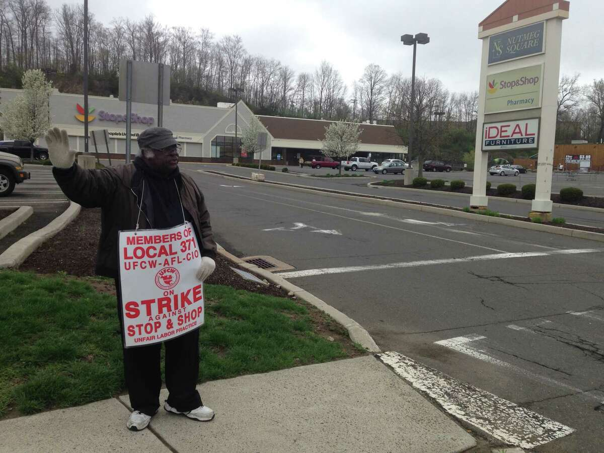 Jimmy Wilson was among the Stop & Shop workers on strike at the store on Newtown Road in Danbury on Easter Sunday, April 21, 2019. This was the 11th day of the strike, which includes more than 31,000 associates in Connecticut, Massachusetts and Rhode Island.