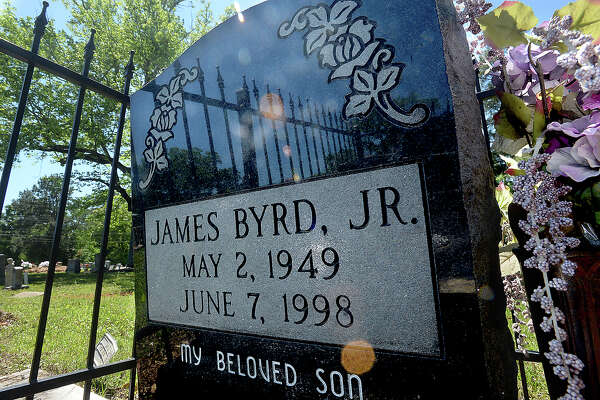 The grave of James Byrd, Jr., resides in the Jasper City Cemetery. Photo taken Tuesday, April 9, 2019 Kim Brent/The Enterprise