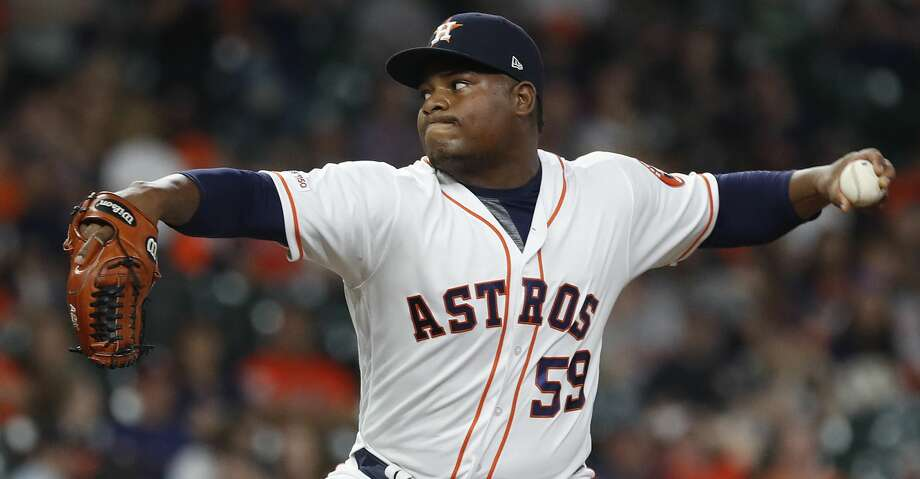 PHOTOS: Astros game-by-game Houston Astros relief pitcher Framber Valdez (59) pitches during the ninth inning of an MLB at Minute Maid Park, Saturday, April 6, 2019, in Houston. Browse through the photos to see how the Astros have fared in each game this season. Photo: Karen Warren/Staff Photographer
