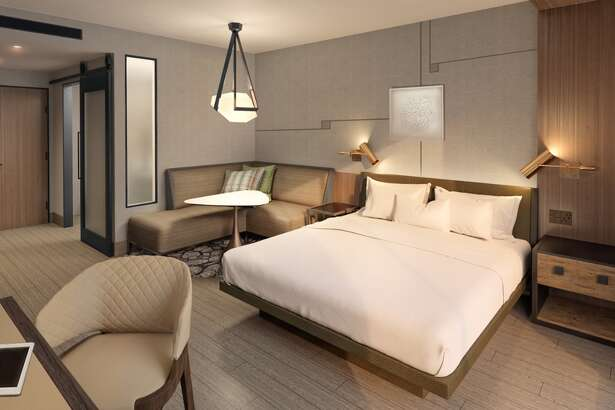 This is an example of a guest room at the under-construction Marriott Hotel and Convention Center in downtown Odessa.