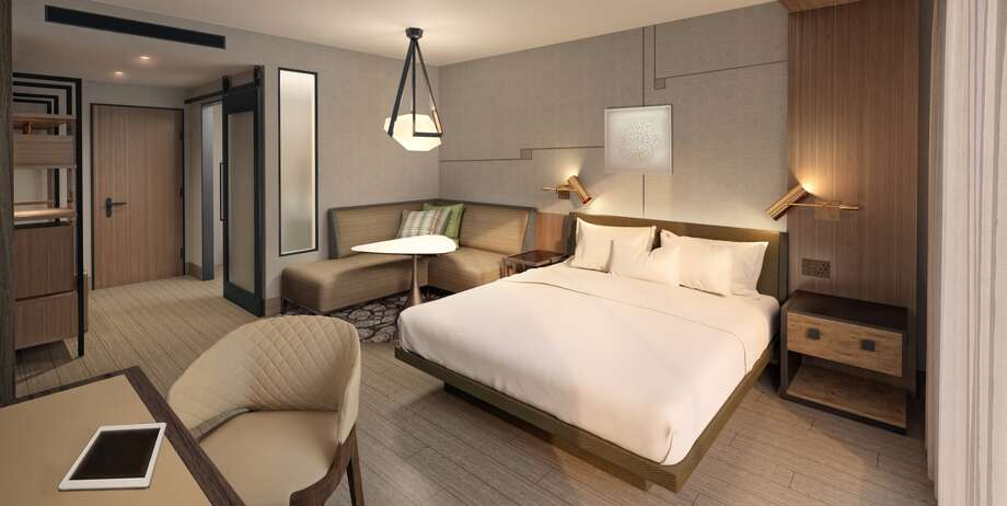 This is an example of a guest room at the under-construction Marriott Hotel and Convention Center in downtown Odessa. Photo: Courtesy Photo