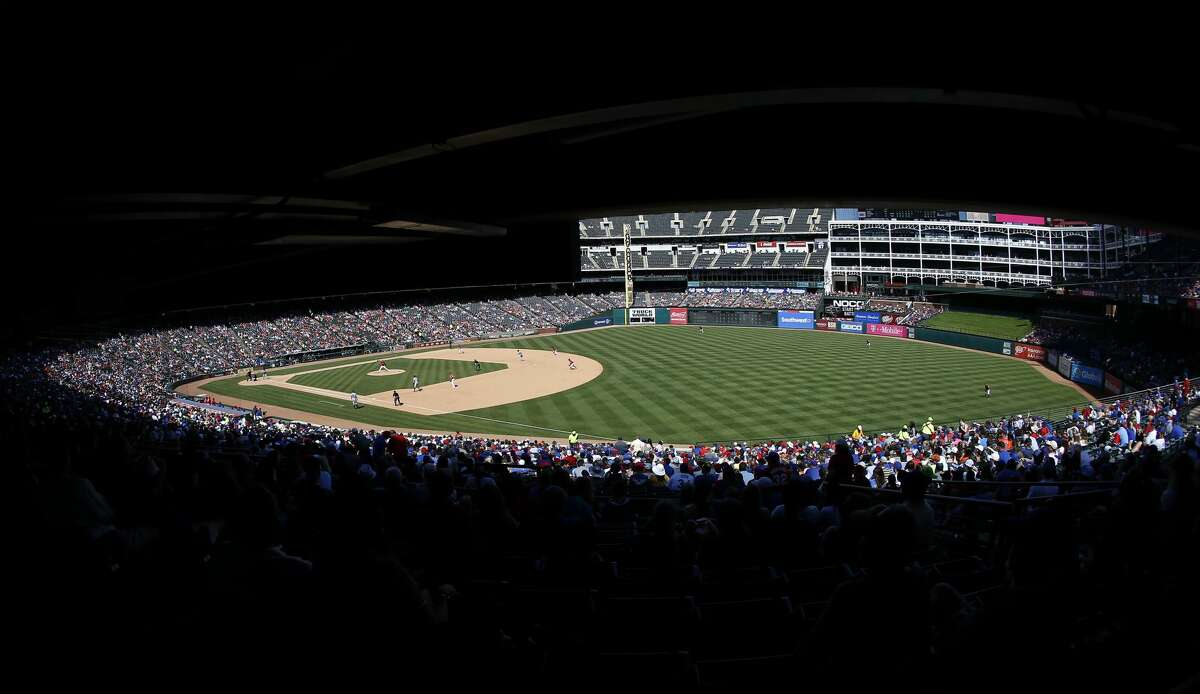 ARLINGTON, TX - APRIL 21: A general view as the Houston Astros play the Texas Rangers during the sixth inning at Globe Life Park in Arlington on April 21, 2019 in Arlington, Texas. (Photo by Ron Jenkins/Getty Images)