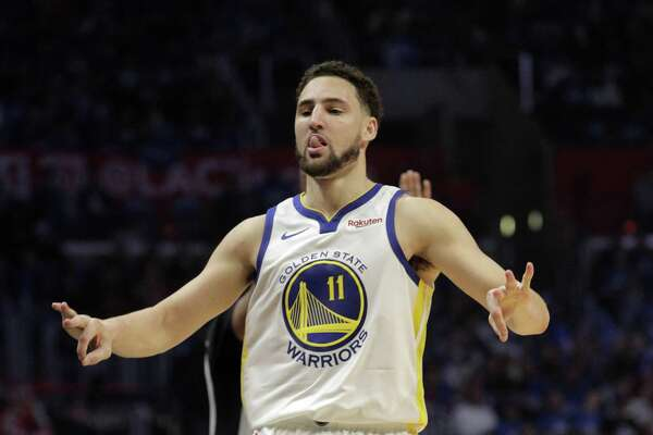 buy online 4c51f 3af27 How a dip in the ocean helped Klay Thompson lead Warriors to ...