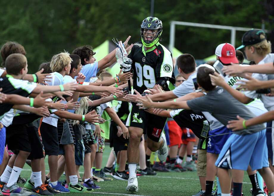 HEMPSTEAD, NY - AUGUST 1: Paul Rabil #99 of the New York Lizards is announced priort to taking on the Boston Cannons at James M. Shuart Stadium on August 1, 2015 in Hempstead, New York. (Photo by Adam Hunger/Getty Images) ORG XMIT: 546708893 Photo: Adam Hunger, Getty / 2015 Getty Images