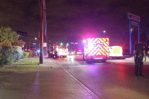 Two women were hospitalized on April 21, 2019 after they were struck by a car while crossing the street.