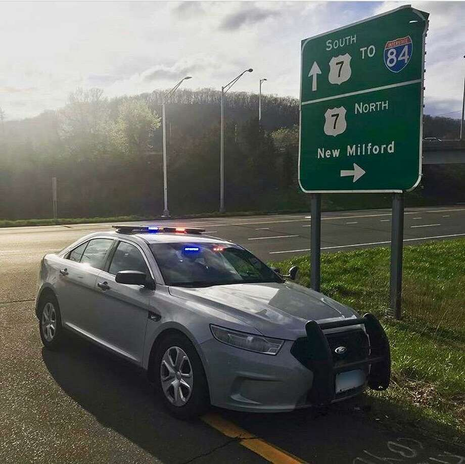 A Connecticut State Police vehicle in April 2019. Photo: Connecticut State Police Troop A / Instagram