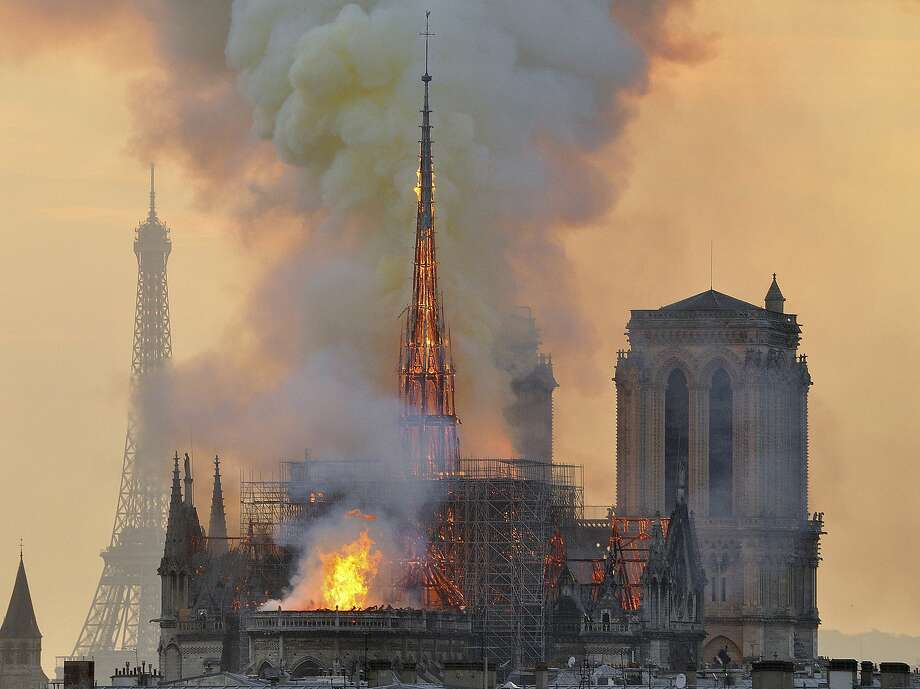 Cultural leaders say the blaze that ripped through Notre Dame Cathedral in Paris on April 15 underscores the need for greater conservation efforts to preserve Europe's cultural heritage. Photo: Thierry Mallet / Associated Press