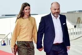 This picture taken on May 27, 2018 shows Bestseller-owner Anders Holch Povlsen and his wife Anne Holch Povlsen as they arrive at the celebration of the 50th birthday of Crown Prince Frederik of Denmark in Royal Arena in Copenhagen, Denmark. The Bestseller company confirmed on April 22, 2019, that the Holch Povlsen couple lost three of their children in the attacks in Sri Lanka.