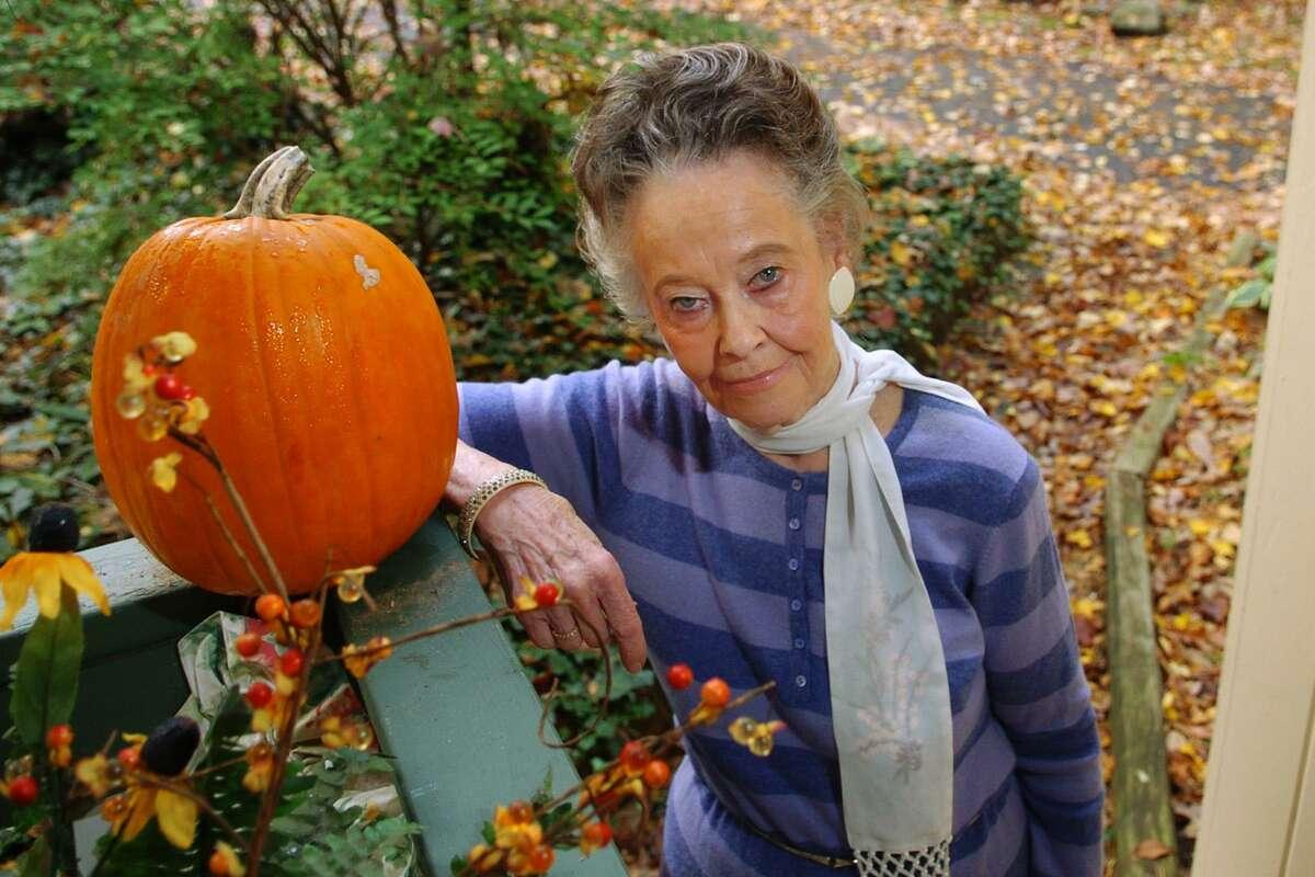 Portrait of ghosthunter Lorraine Warren at her home in Monroe.