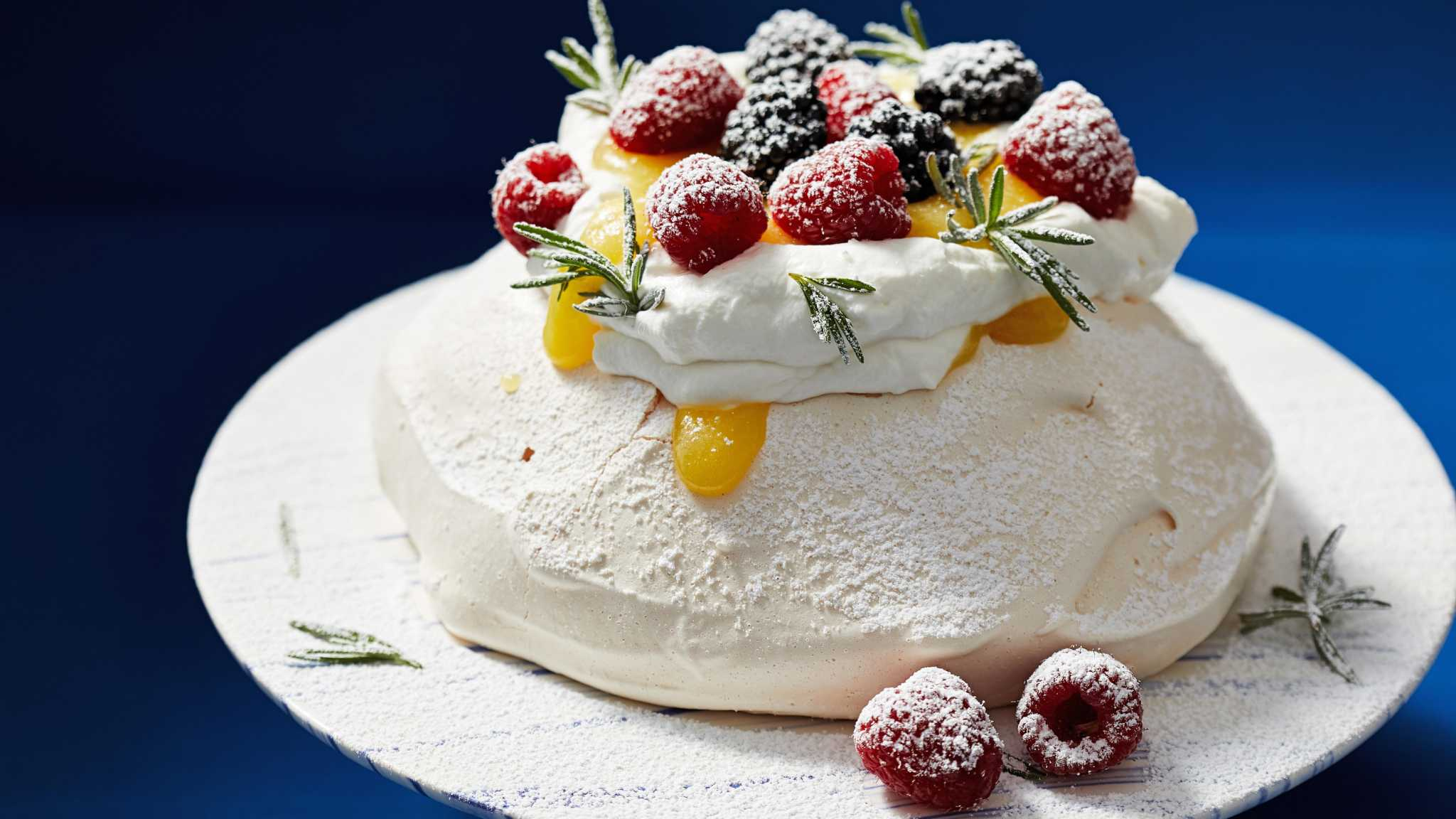 With just 2 egg whites and some sugar, you can make a showstopping pavlova for dessert