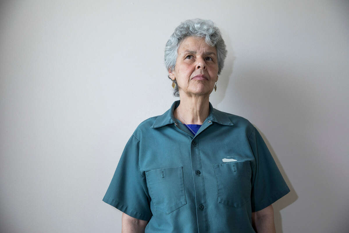 Judith Clark at Bedford Hills Correctional Facility for Women in Bedford Hills, N.Y., May 1, 2017. Clark, who as a young woman took part in a deadly attempted robbery of a Brink's armored car that represented one of the last gasps of the violent left-wing extremism of the 1960s and 1970s, was paroled on April 17, 2019, after being imprisoned in New York for 37 years. (Damon Winter/The New York Times)