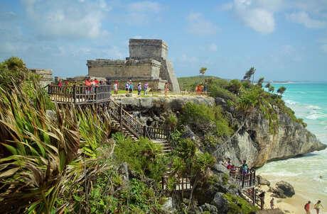 The Mayan ruins at Tulum are right along the Riviera Maya's Caribbean coast. Photo: Expedia