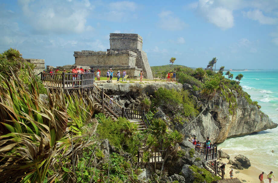 The Mayan ruins at Tulum are right along the Riviera Maya's Caribbean coast. Photo: Expedia