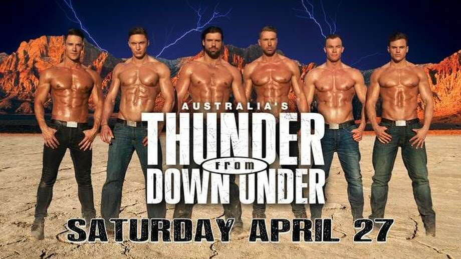 Thunder From Down Under will perform at Norwalk's Wall Street Theater April 27. Photo: Wallstreettheater.com