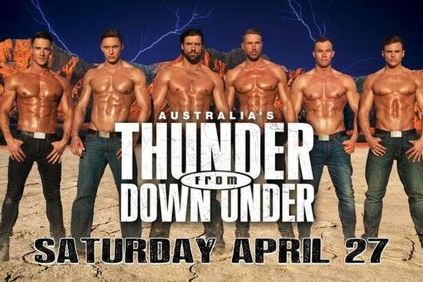 Thunder From Down Under will perform at Norwalk's Wall Street Theater April 27.