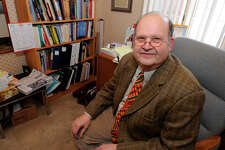 TIMES UNION STAFF PHOTO BY SKIP DICKSTEIN - Dr. Richard Propp speaks to the Times Union at his home in Albany, New York February 25, 2008, regarding health care. CQ wilkins