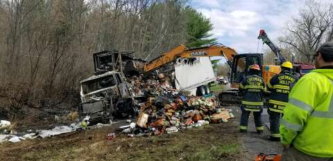 Tractor trailer crashes, burns in Coeymans Hollow - Times Union