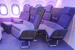 Airbus bench seating.