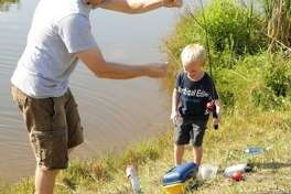 At the fifth annual Friendswood Youth Fishing Derby on May 11, children will compete to catch the largest catfish in the Centennial Park, pond.